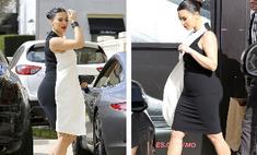 Беременная Ким Кардашьян предстала в сексуальном наряде