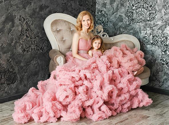 Татьяна Вершинина, телеведущая, с дочкой, фото