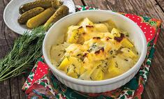 Картофель в молочном соусе