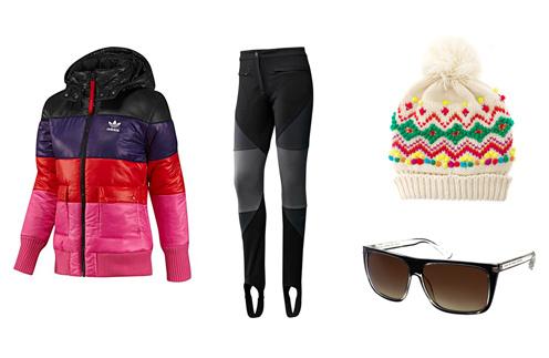 Куртка Adidas, брюки Adidas, шапка Asos, солнечные очки Marc by Marc Jacobs