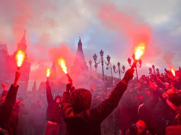 Москва, футбол, беспорядки