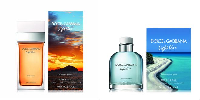 Лимитированные ароматы Light Blue: женский Sunset in Salina и мужской Swimming in Lipari