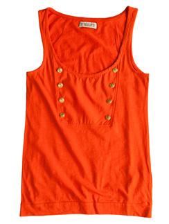 Оранжевый топ Pull&Bear