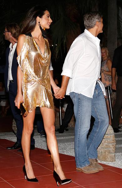 Джордж и Амаль Клуни на Ибице