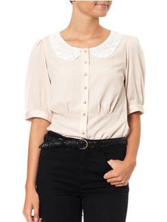 Блузка Vero Moda с кружевным воротничком