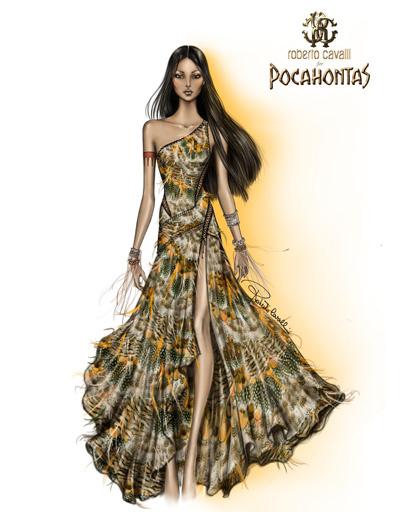 Платье Roberto Cavalli для Покахонтас