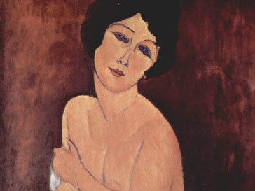 А. Модильяни - «Обнаженная, сидящая на диване»