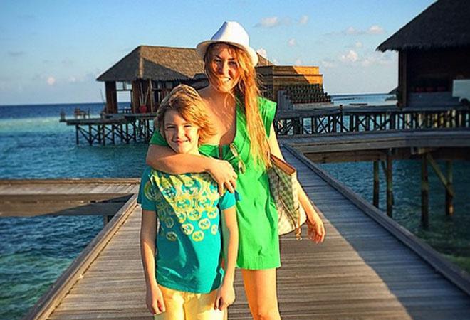 Ирина Дубцова с сыном: фото