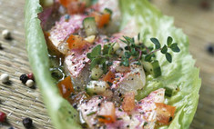 Трубочки из листьев салата от виктории дайнеко