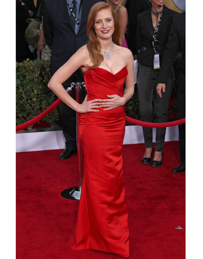 Джессика Честейн (Jessica Chastain) на премии SAG Awards 2013