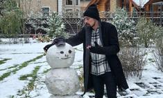 Милота дня: Дима Билан слепил огромного снеговика