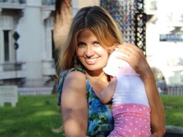 Викторяи Боня с дочерью.