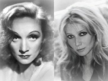 Марлен Дитрих (Marlene Dietrich) - слева, Гвинет Пэлтроу (Gwyneth Paltrow) - справа