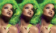 Рианна сменила цвет волос на зеленый