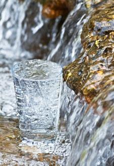Воду нужно пить за полчаса до еды и через полсчаса после.