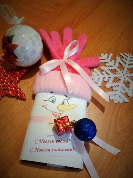 Снеговик-сувенир своими руками
