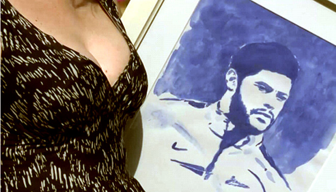 Ирина Романовская портрет Халка голой грудью