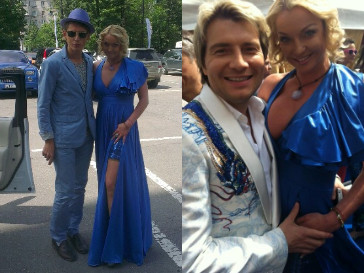 """На """"Скачках Монте-Карло"""" Анастасия Волочкова общалась только с теми, кто гармонировал с цветом ее платья"""