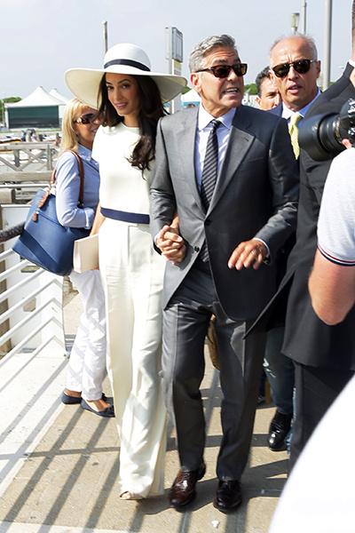 Джордж Клуни и жена