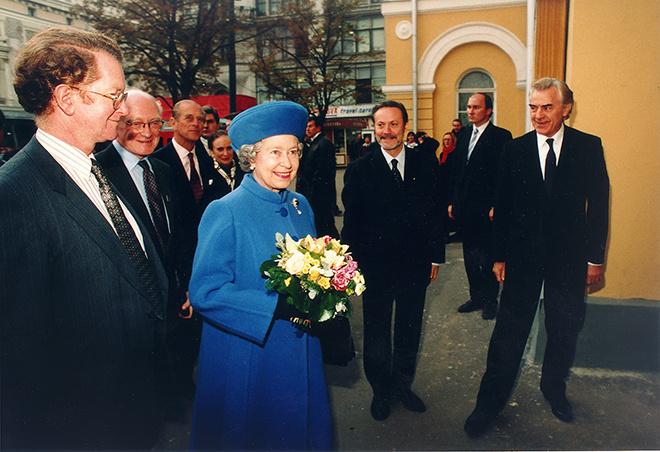 Юрий Соломин. С королевой Елизаветой