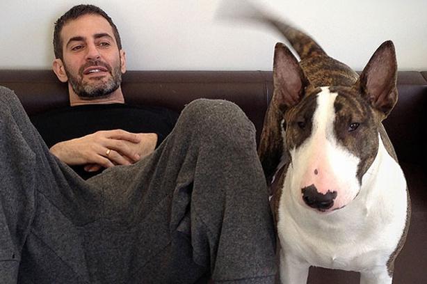 Марк Джейкобс (Mark Jacobs) с псом Нэвиллом