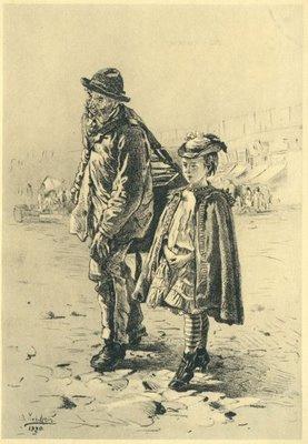 Шарманщик с девочкой, 1880 год.