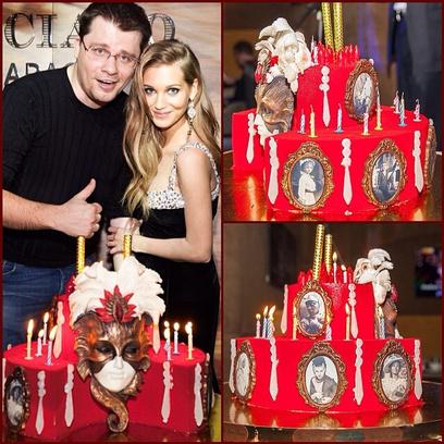 Кристина Асмус и ее театральный торт