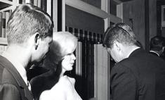 В США представили единственное совместное фото Монро и Кеннеди