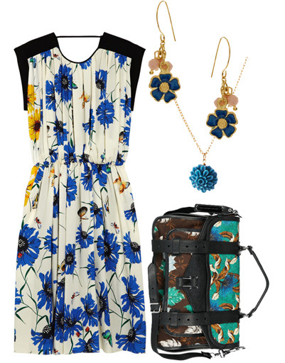 Платье Vionnet, сумка Proenza Schouler, серьги People Tree, подвеска Pieces