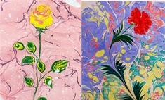 Краски на воде: выставка картин в стиле эбру открылась в Иркутске