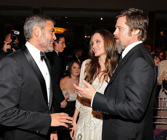 Джордж Клуни, Анджелина Джоли и Брэд Питт