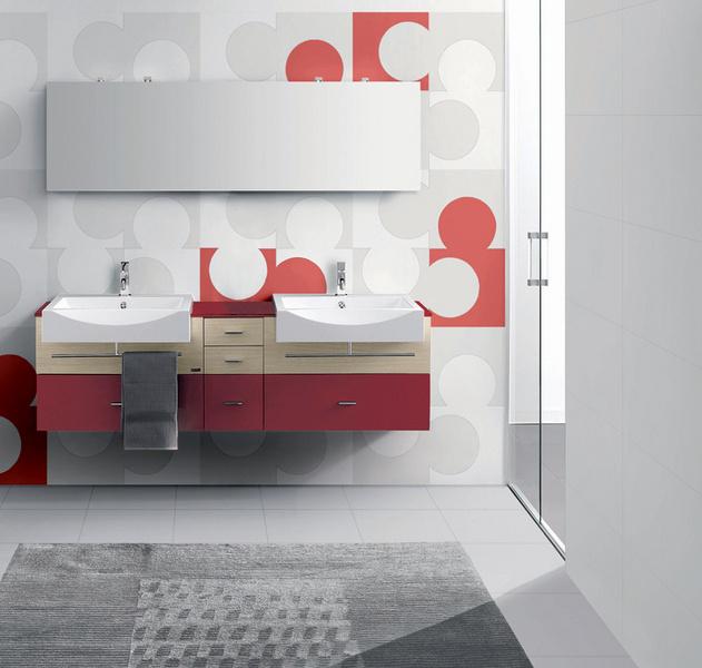 Плитка для ванной в кругами
