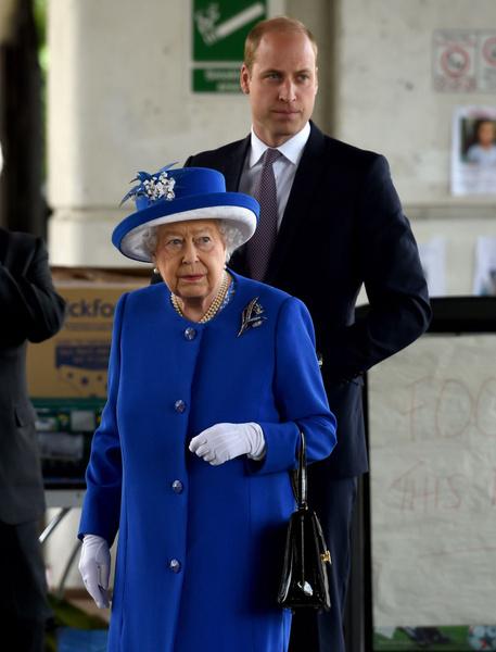 Королева Елизавета и принц Уильям