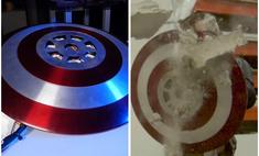 парень изготовил щит капитана америки испытал способен видео