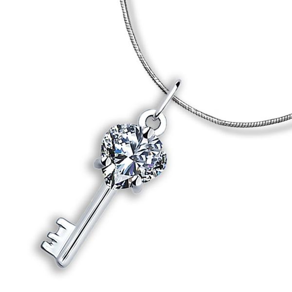 Подарки для влюбленных: серебряные кулоны Изумруд