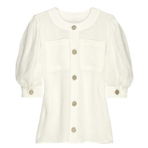 Светлая блузка.
