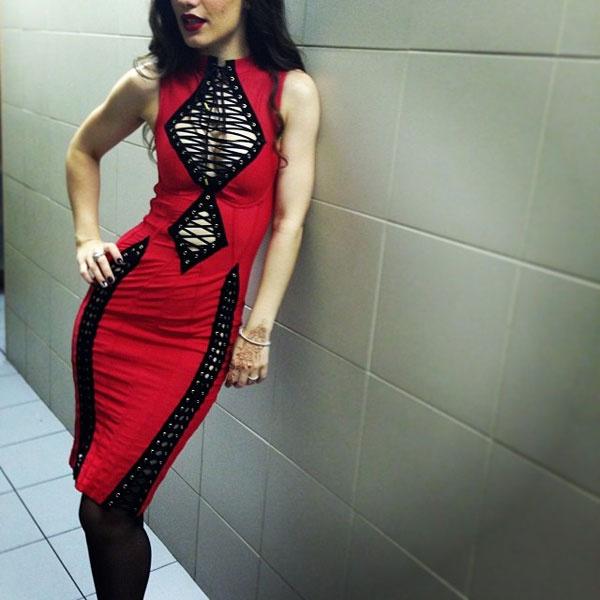 Виктория Дайнеко в платье Agent Provocateur