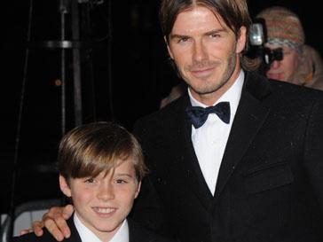 Дэвид Бекхэм (David Beckham) с сыном Бруклином