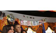 День Рождения Обамы в закусочной