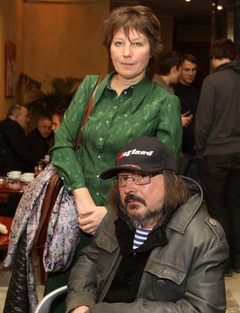 Алексей Балабанов, режиссер, с женой, фото