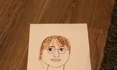 4-летний мальчик попросил нарисовать ему Гарри Поттера, но ноги вызвался дорисовать сам