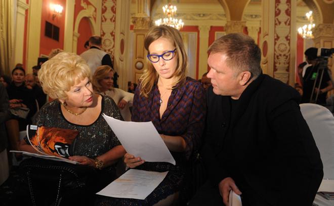 Людмила Нарусова, Ксения Собчак, Андрей Колесников