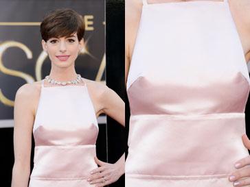 """Энн Хэтэуэй (Anne Hathaway) на красной ковровой дорожке """"Оскара""""-2013"""