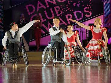 Выступление Федерация танцоров на колясках
