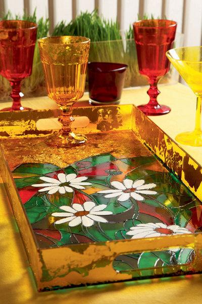 Роспись по стеклу витражными красками
