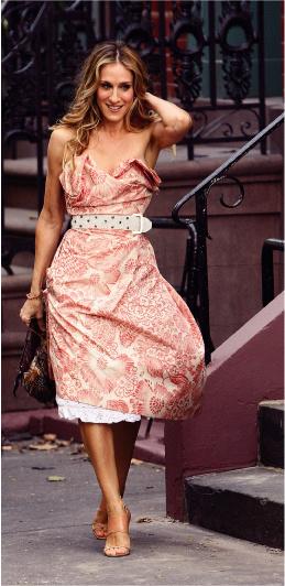 Верная своей репутации, Сара Джессика, как и в сериале, не наденет дважды один и тот же наряд