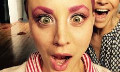 Кейли Куоко покрасила брови в розовый цвет