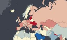 карта число женщин странах мира