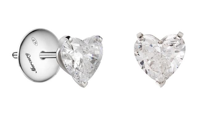 Серьги Mercury, белое золото и бриллианты, цена по запросу