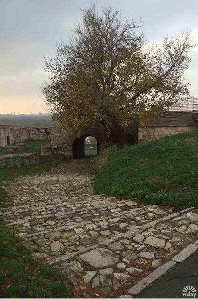 На территории крепости Калемегдан в Белграде
